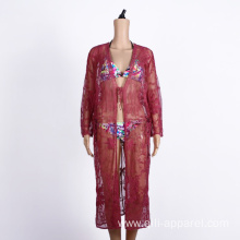 purple embroidered beach cover ups kaftans dress beachwear