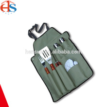 6pcs Professional BBQ Camping Set with Cruets