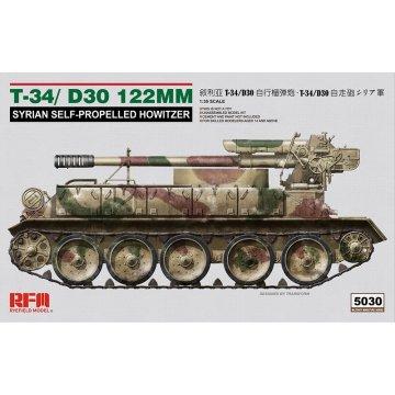 Rye Field Model RFM RM-5030 1/35 Syrian T-34/D30 122mm - Scale model Kit