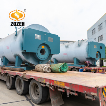 Industrial use 8 ton gas diesel fired steam boiler