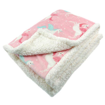 soft and comfortable baby soft thick fleece blanket