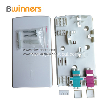 Wall mount Optical 1 Core Socket Panel Fiber Box