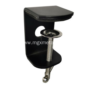 Custom Black Powder Coated Metal Table Clamp With Adjustable Screw