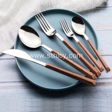 Imitation Marbling Stainless Steel Tableware Set