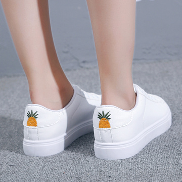 PU Leather Pineapple Shoes embroidery patch Casual