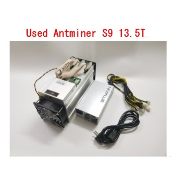 Used AntMiner S9 13.5T With Power Supply Bitcoin Miner Asic BTC BCH Miner Better Than WhatsMiner M3 M10 T9+ Ebit E9 Avalon 841
