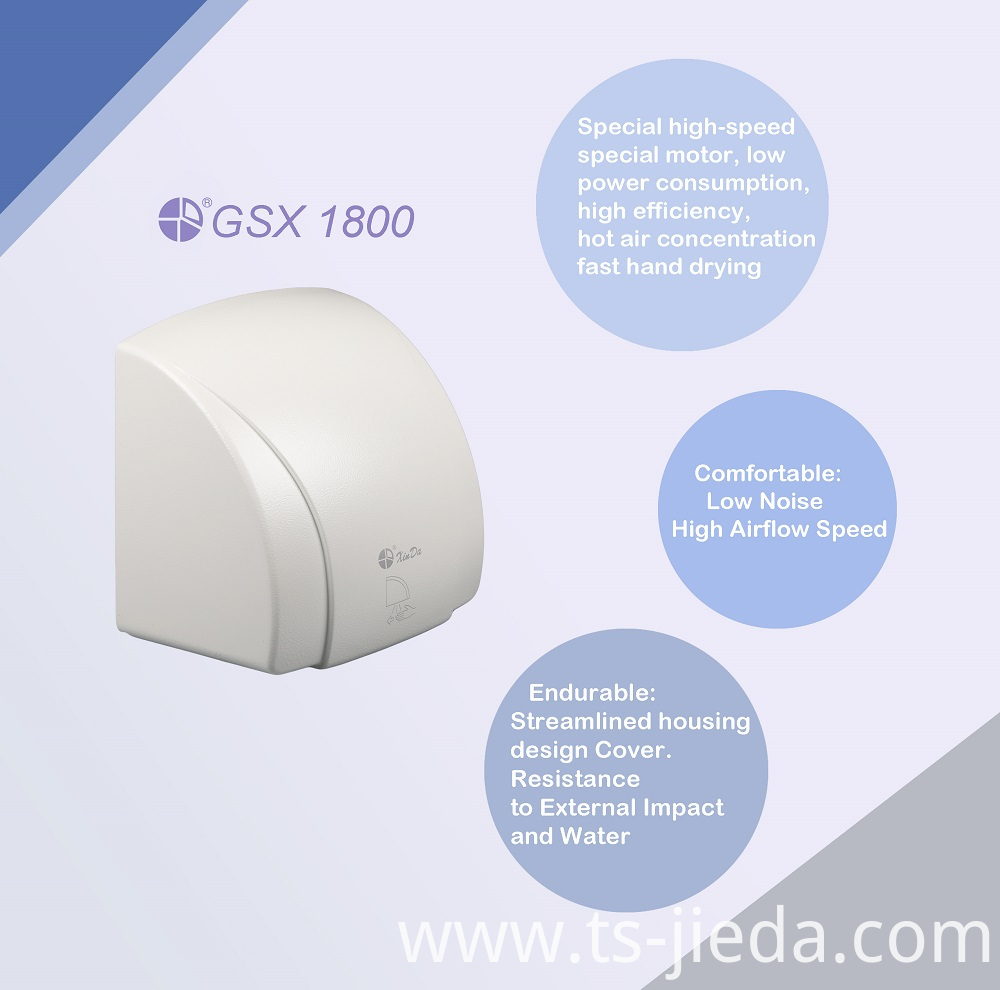 Digital circuit automatic hand dryer