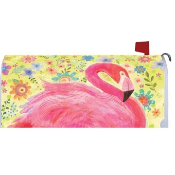 Custom Outdoor Magnetic FLAMINGO FLORAL  Mailbox Cover