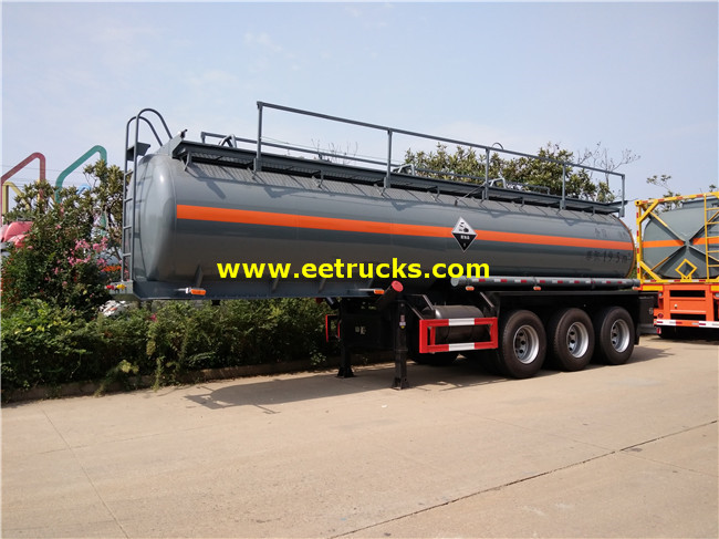 19000 Litres 3 Axles H2so4 Transport Semi Trailers