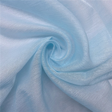 Fancy Light Blue Shimmer Organza Tulle Fabric