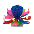 Eight Small Candles Lotus Musical Spinning Candle