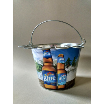 5QT Ice bucket with glass holder handle