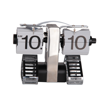 Metal robot table flip clock