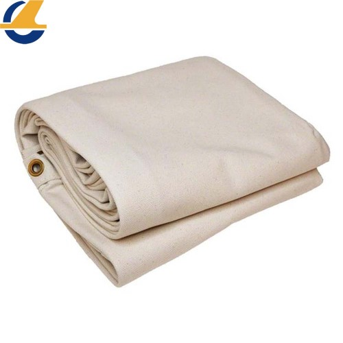 Waterproof White Cotton Tarpaulin Cover