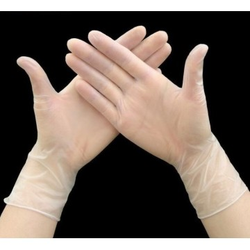 vinyl clear powder free gloves