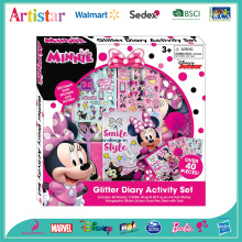 DIENEY MINNIE Glitter Diary deluxe coloring set