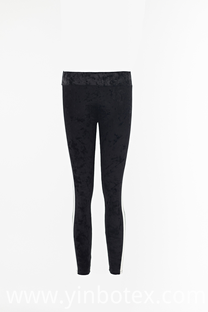 Ladies Velvet Leggings