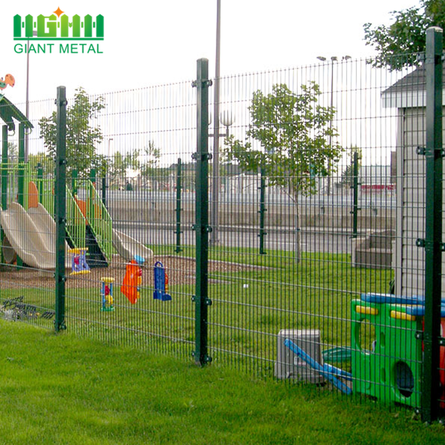 Black 4x4 welded wire mesh fence
