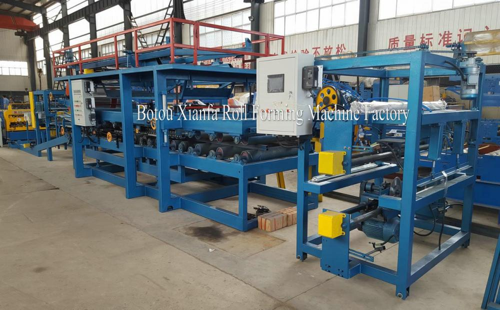 EPS Sandwich Wall Panel Roll Forming Machine Line