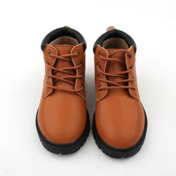 High Top Kids Winter Warm Brown Baby Shoes