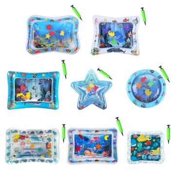 Baby water play mat Inflatable thicken PVC infant Tummy Time Playmat Toddler for Baby Fun Activity Play Center Dropship