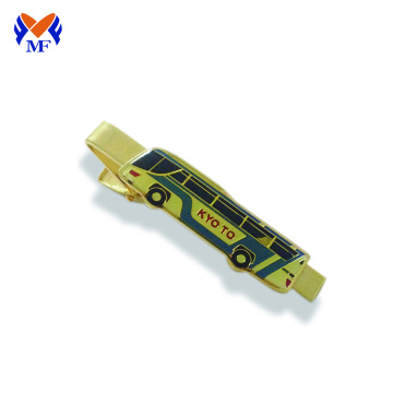 Metal bus metal tie clip custom