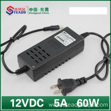 Desktop Type Power Adapter 12VDC 5A
