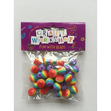 round shape colorful plastic beads