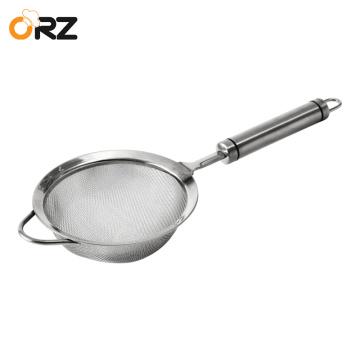304 Stainless Steel Kitchen Colander Fine Mesh Food Strainer Flour Sieve Baking Tools Pasta Quinoa Noodles Sieve Kitchen Utensil