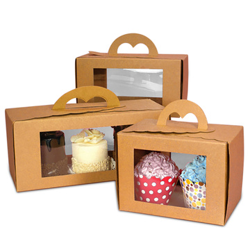 Popular Customized kraft paper pastry box