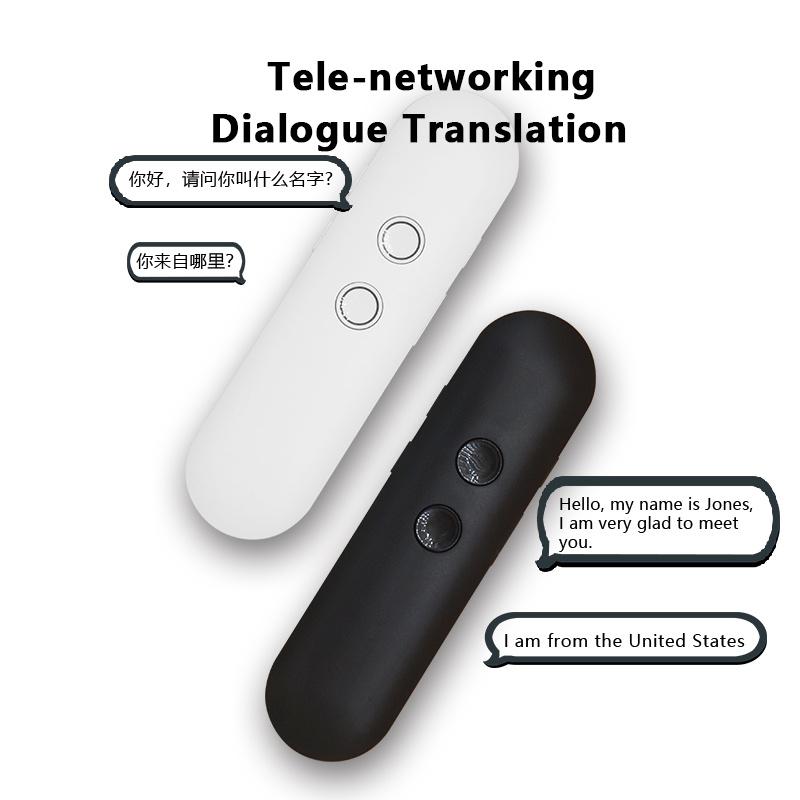 new Portable Mini Wireless Smart Translator 40 Languages Two-Way Real Time Instant Voice Translator APP Bluetooth Multi-Language