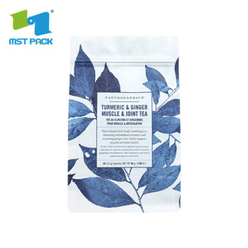 Sustainable empty compostable cornstarch tea packaging bag