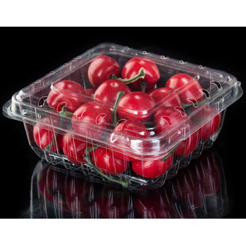 Rectangular transparent blister fruit and vegetable box