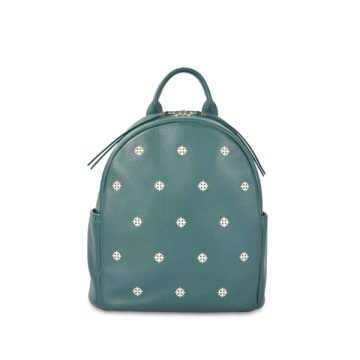 Casual Pretty Elegant Floral Embroidered Leather Backpack