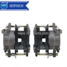 Automotive brake calipers with single piston