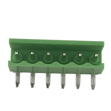 3.96mm pitch PCB terminal block 6pin 90degree
