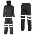 Cotton Knitted Flannel Fire Resistant Hoodie and Pants