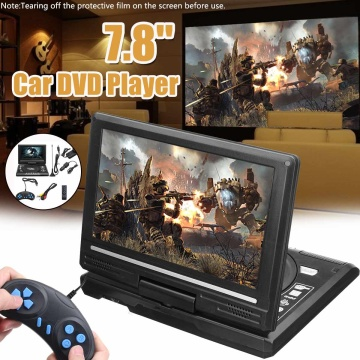 Portable HD 7.8 Inch TV Home Car DVD Player VCD CD MP3 DVD Player USB SD Cards RCA Portatil Cable Game 16:9 Rotate LCD Screen