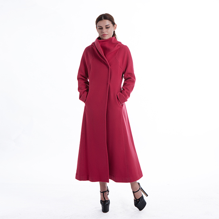 New styles red cashmere winter coat