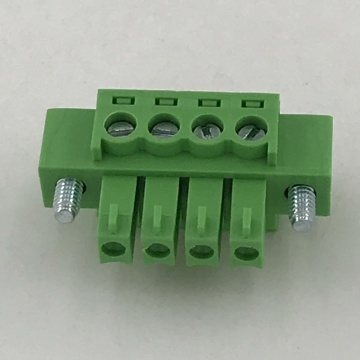 3.81MM pitch Female pluggable terminal block with screws