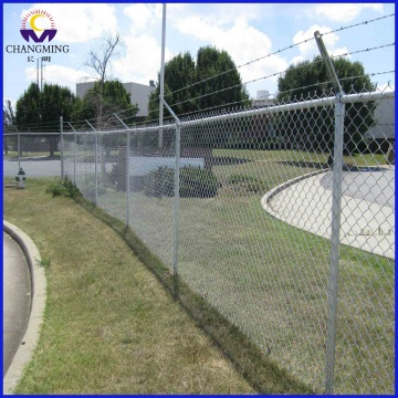 Galvanized Chain Link Fence In Landscaping