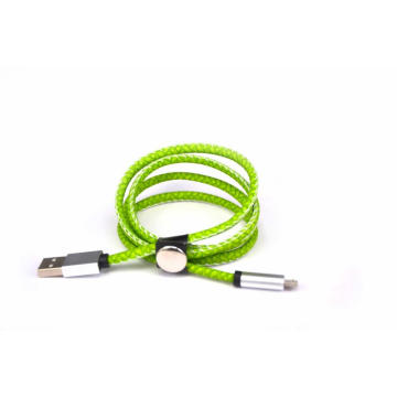 2.4A microfiber stitch metal usb cable