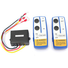 12V Universal Car Wireless Winch Electric Remote Control With Manual Transmitter Set Truck ATV SUV Truck Vehicle Trailer Kit