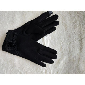 ladies touch screen fabric knmiiting glove wheatear tail