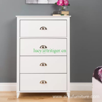 Solid wood Vertical 4 Drawer Chest