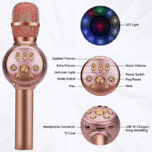 Wireless LED Karaoke Microphone bluetooth speaker