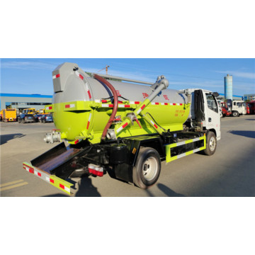 126HP Engine new septic tank vacuum sewage suction truck