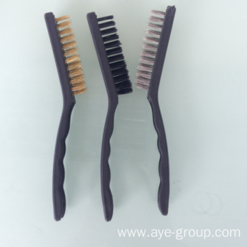 Wire Brushes With 3pcs Nylon Steel Brass Brush