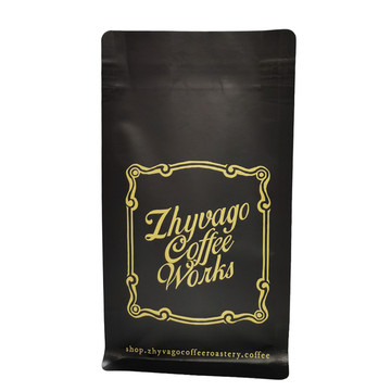 Printed colorful custom coffee zipper bag with valve