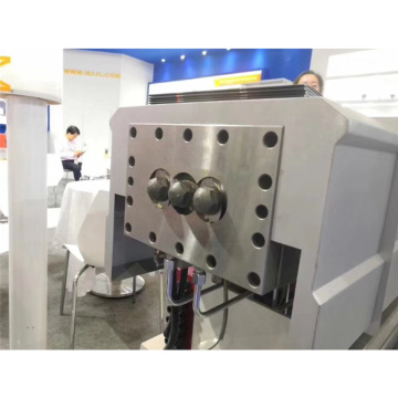Three screw extruder machine line